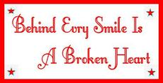 behind every smile is a broken heart
