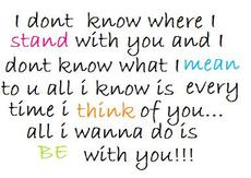 i don't know where is tand with you