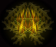 flaming pentacle