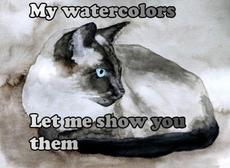 my watercolors let me show you them