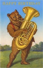 happy birthday bear playing tuba