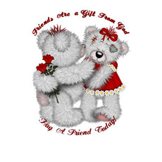 friends are a gift from god hug a friend today