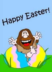 happy easter jesus hatches out of egg