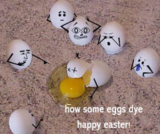 how some eggs dye happy easter