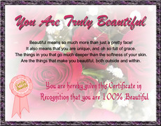 you are truly beautiful
