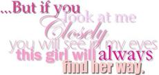 this girl will always find her way