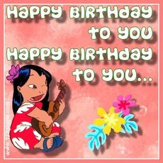 happy birthday to you lilo and stitch