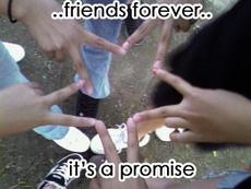 friends forever it's a promise