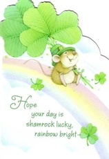 hope your day is shamrock lucky rainbow