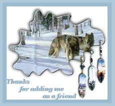 thanks for adding me as a friend wolves