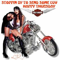 stoppin by to send some luv happy thursday harley davidson